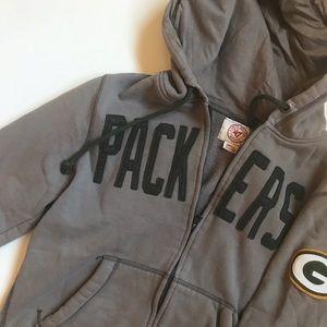 Tops - Packers Vintage Style Zip up Hoodie Sweatshirt